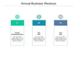 Annual Business Revenue Ppt Powerpoint Presentation Backgrounds Cpb