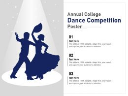 Annual College Dance Competition Poster