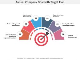 Annual Company Goal With Target Icon