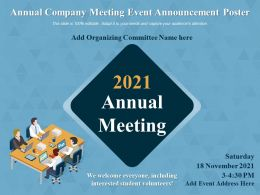 Annual Company Meeting Event Announcement Poster