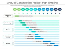 Annual Construction Project Plan Timeline