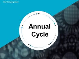 Annual Cycle For Planning Each Month Highlighting Four Periods Arrow