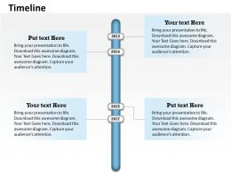 Annual Data On Timeline Roadmap Diagram 0114