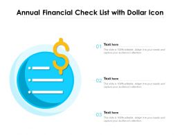 Annual Financial Check List With Dollar Icon
