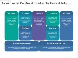 Annual Financial Plan Annual Operating Plan Financial System