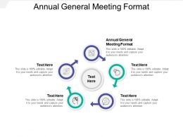 Annual General Meeting Format Ppt Powerpoint Presentation Show Introduction Cpb
