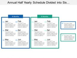 Annual Half Yearly Schedule Divided Into Six Months