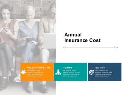 Annual Insurance Cost Ppt Powerpoint Presentation Ideas Gallery Cpb