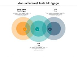 Annual Interest Rate Mortgage Ppt Powerpoint Presentation Gallery Visuals Cpb
