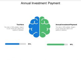 Annual Investment Payment Ppt Powerpoint Presentation File Infographics Cpb