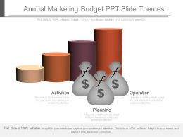 Annual Marketing Budget Ppt Slide Themes