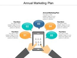 Annual Marketing Plan Ppt Powerpoint Presentation File Introduction Cpb