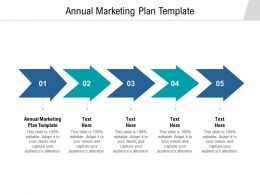 Annual Marketing Plan Template Ppt Powerpoint Presentation Outline Samples Cpb