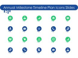 Annual Milestone Timeline Plan Icons Slides Ppt Powerpoint Presentation Files
