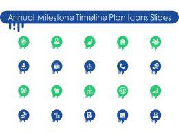Annual Milestone Timeline Plan Icons Slides Ppt Powerpoint Presentation Files