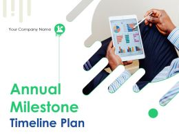 Annual Milestone Timeline Plan Powerpoint Presentation Slides