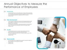 Annual Objectives To Measure The Performance Of Employees