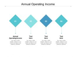 Annual Operating Income Ppt Powerpoint Presentation Styles Design Templates Cpb
