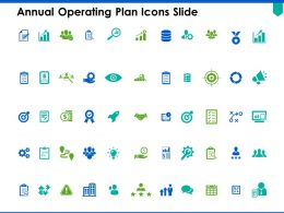 Annual Operating Plan Icons Slide Checklist C308 Ppt Powerpoint Presentation Pictures Ideas