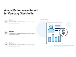 Annual Performance Report For Company Stockholder