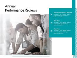 Annual Performance Reviews Ppt Powerpoint Presentation Slides Outline Cpb