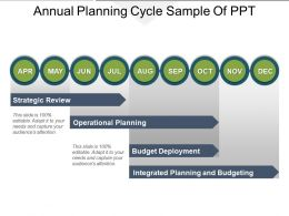 Annual Planning Cycle Sample Of PPT