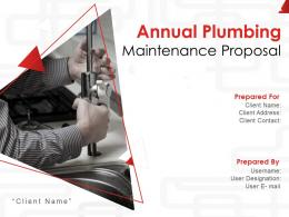 Annual Plumbing Maintenance Proposal Powerpoint Presentation Slides