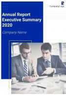 Annual Report Executive Summary Example PDF DOC PPT Document Report Template