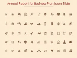Annual Report For Business Plan Icons Slide Storage Ppt Slides