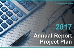 Annual Report Project Plan Powerpoint Presentation Slides