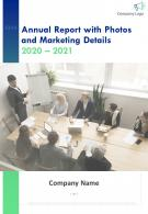 Annual Report With Photos And Marketing Details PDF DOC PPT Document Report Template