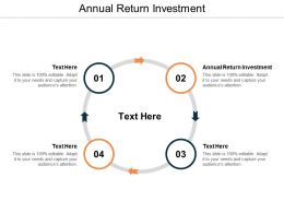 Annual Return Investment Ppt Powerpoint Presentation Infographics Background Images Cpb