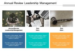 Annual Review Leadership Management Ppt Powerpoint Presentation File Layout Ideas Cpb
