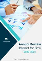 Annual Review Report For Firm PDF DOC PPT Document Report Template