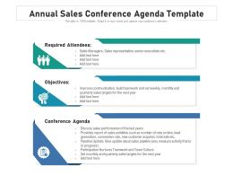 Annual Sales Conference Agenda Template