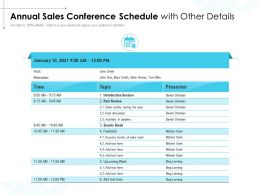 Annual Sales Conference Schedule With Other Details