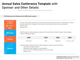 Annual Sales Conference Template With Sponsor And Other Details
