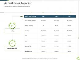 Annual Sales Forecast Company Expansion Through Organic Growth Ppt Pictures