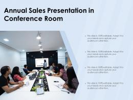 Annual Sales Presentation In Conference Room
