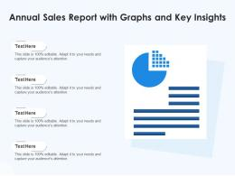 Annual Sales Report With Graphs And Key Insights