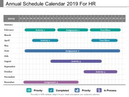 Annual Schedule Calendar 2019 For Hr