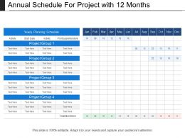 Annual Schedule For Project With 12 Months