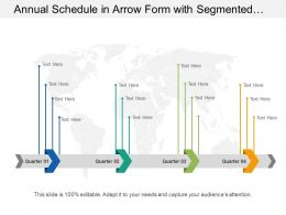 Annual Schedule In Arrow Form With Segmented Four Quarters