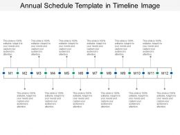 Annual Schedule Template In Timeline Image