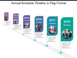 Annual Schedule Timeline In Flag Format