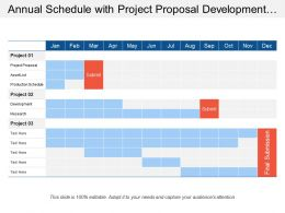 Annual Schedule With Project Proposal Development Research And Asset