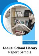 Annual School Library Report Sample PDF DOC PPT Document Report Template