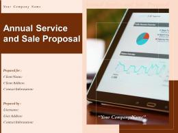 Annual Service And Sale Proposal Powerpoint Presentation Slides