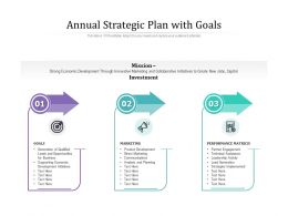 Annual Strategic Plan With Goals