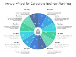 Annual Wheel For Corporate Business Planning Infographic Template